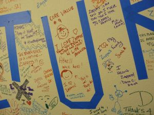 Graffiti wall at Zappos